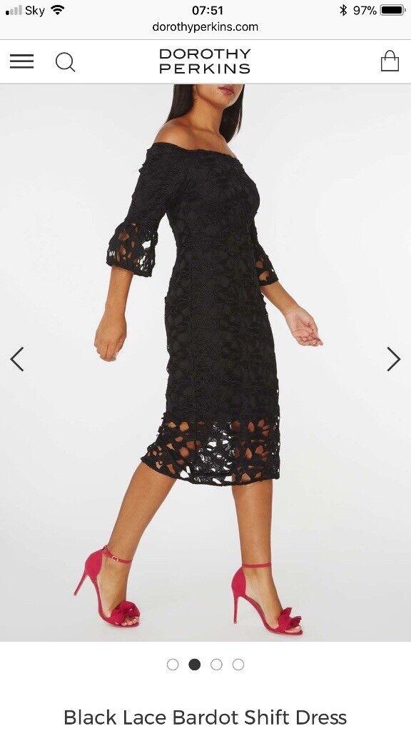 Black Lace Bardot Shift Dress Size 20 In Totton Hampshire Gumtree