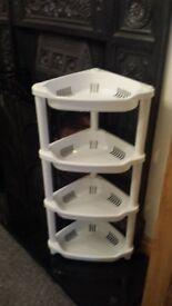 4 Tier Plastic Bathroom Corner Shelf Storage/Tidy Caddy/Shower Organiser/Rack