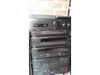 KENWOOD STEREO HI-FI 5 STACK SYSTEM, AMPLIFIER-TUNER-TWIN TAPE DECK-GRAPHIC EQUALIZER CD PLAYER
