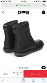 CAMPER ANKLE BOOTS WORN TWICE SIZE 3 (36)
