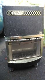 """Portable """"Calor"""" gas fire heater including bottle of gas"""
