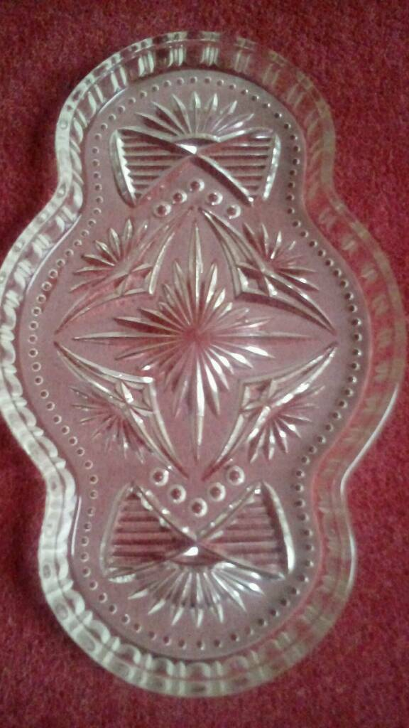 Vintage Glass Tray for Dressing Table Set.