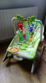 Fisher Price monkey baby/toddler vibrating and rocking chair