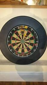 Dart board with rubber ring and 3 sets of darts
