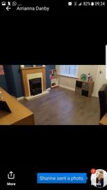 2 double bedroom house with seoerate dining room