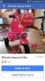 Minnie mouse trike