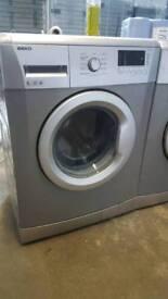 SILVER BEKO 6KG 1400 SPIN WASHING MACHINE WITH 3 MONTHS GUARANTEE