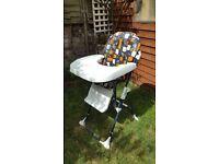 Baby high chair feeding chair