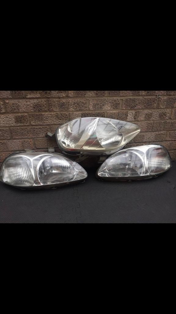 Honda Civic preface lift and facelift headlights with shocks