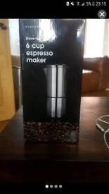 Brand New Coffee Maker 6Cup Espresso Maker
