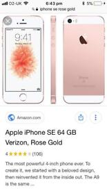 IPhone se rose gold perfect condition