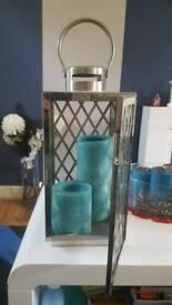 Lantern candle holder boxed.