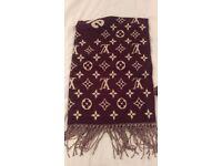 100% Authentic Louis Vuitton X Supreme Cashmere Monogram Scarf Brown BNWT