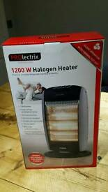 BNIB Prolectrix Halogen Heater 1200w