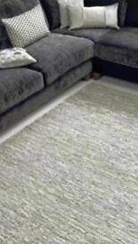 Silver leather rug