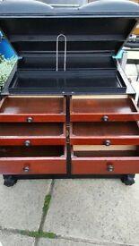 Classic and iconic Black boss compact fishing seat box