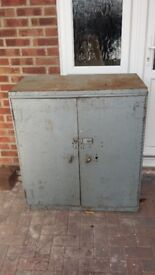 old style heavy steel cabinet,