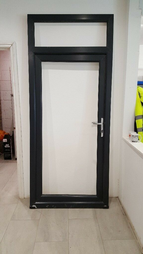 Anthracite on white Upvc miss measured door frame for sale - Free ...