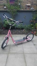 HOMCOM Push Scooter Adult / Teenager Pink. 12inch wheels. Like new