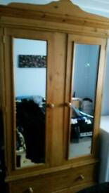 NEED GONE B4 TOM!! Double Pine wardrobe superb condition Hand made