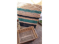 20 X Bail Arm Bale Plastic Crates Storage Stacking