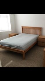 Double bed - wooden framed excellent condition
