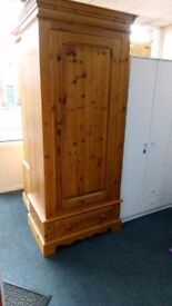 Pine Wardrobe with one drawer.