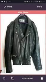 leather moto cycle jacket real cow hide
