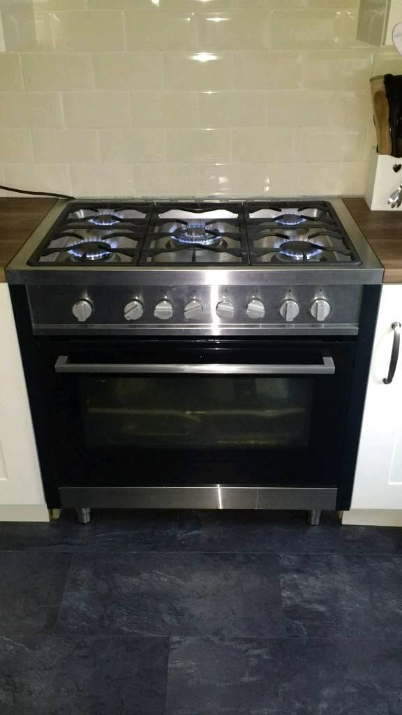 90cm dual fuel cooker