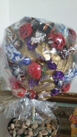 chocolate and sweet bouquets and hampers