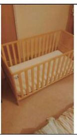 Mothercare baby bed/cot with mattress