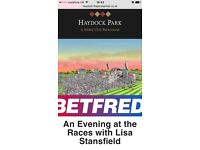 2 x LISA STANSFIELD CONCERT FRI 5th AUG 2016 HAYDOCK RACE TICKETS COUNTY BADGE ENCLOSURE RRP £90