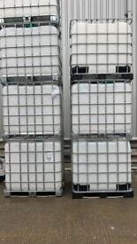 Super clean food grade IBC 1000l tank- used once for transportation of sugar 1.2m x 1.0m x 1.2m