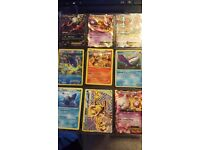 pokemon ex cards + rares, commons and uncommons
