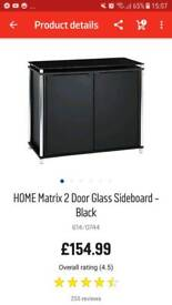 Black Glass Sideboard for sale!