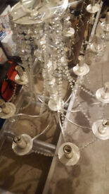 silver chandeliers - 2 available