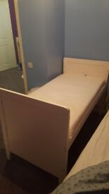 Baby to child's bed complete with side barriers. Very clean and excellent condition. Used once.