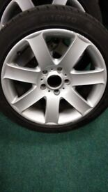 bmw E-46 alloys with tyres 225x45xR17 (6mm front/3mm rear) £100.00 for 4 collection only