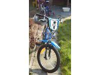 """Boy's Bike 18"""" Wheel BMX type."""