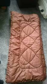 Small brown quilt