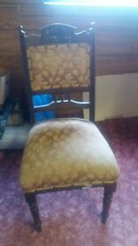 Solid antique chair