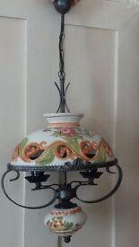 Hand Painted Ceramic Meditteranean Light £5
