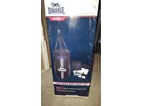 lonsdale 18inch boxing bag with 2 sets of gloves