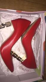 Katy perry red court shoes