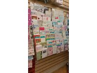 Greeting Cards Display – Fits Onto A Slat Wall - 2000+ Greeting Cards Also Available