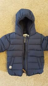 Boys 9-12 months blue Next coat