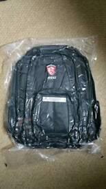 MSI Gaming Backpack Laptop Bag Rucksack PC Gaming