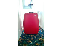 LARGE RED M&S SUITCASE ON WHEELS