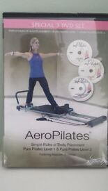 Aero Pilates Exercise Machine with DVDs and Wall Charts