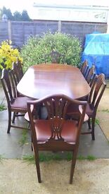 Bartholomew and Fletcher antique Dining table and chairs,Excellent condition.